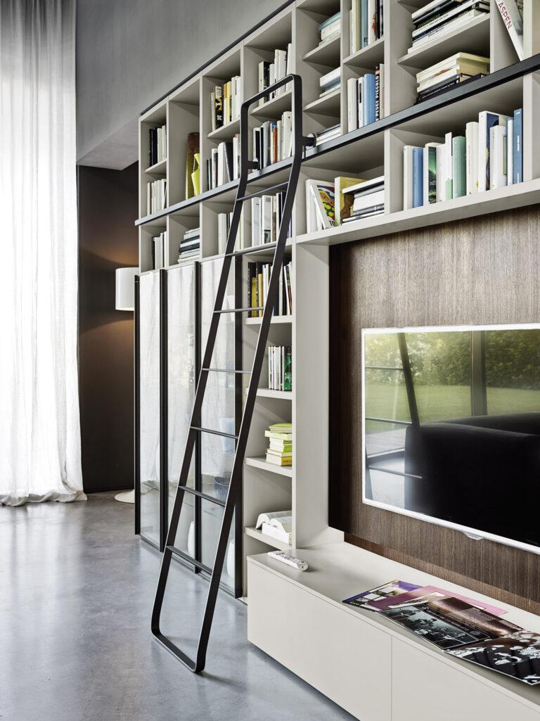 Sangiacomo MODO boekenkast trap