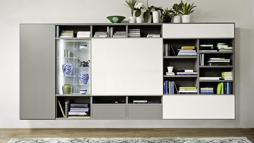 Sangiacomo-MODO hangend Tv meubel schuifpaneel