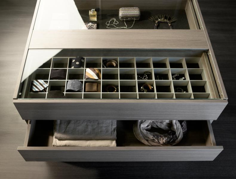 Noteborn kleding dressoir bovenpaneel glas