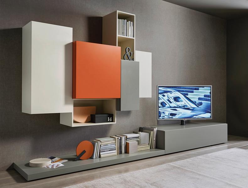Sangiacomo LAMPO TV-meubel wandcompositie