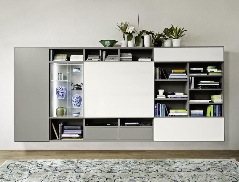 Sangiacomo MODO hangend TV-meubel met schuifpaneel
