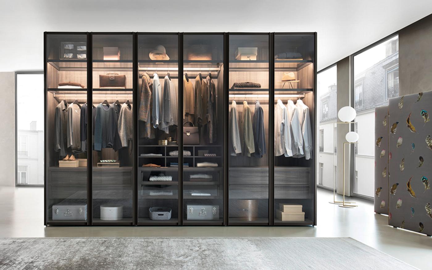 Sangiacomo garderobekast met glazen deuren