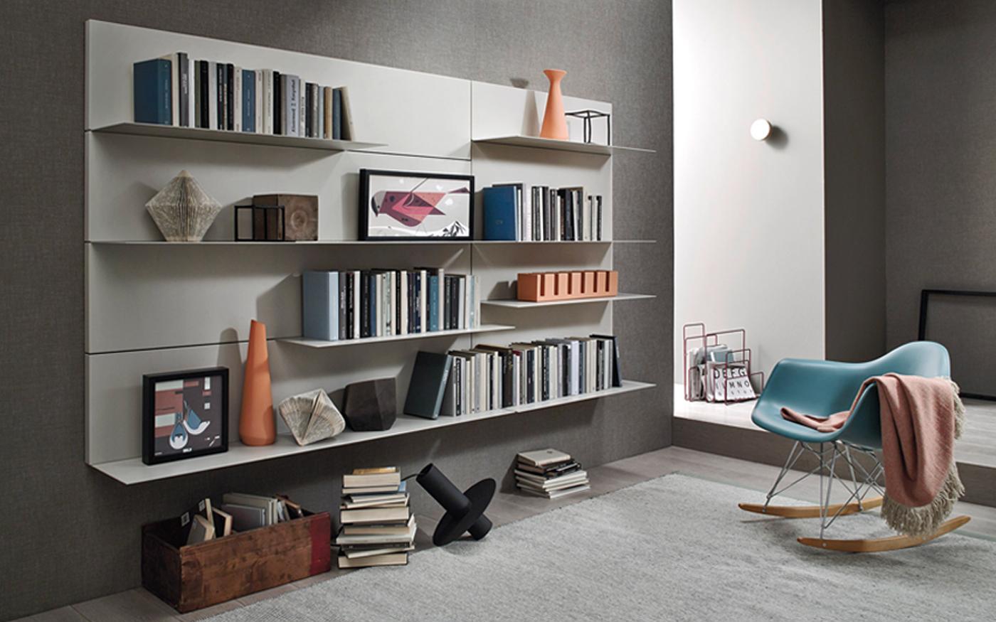 Sangiacomo_LAMPO muur boekenplanken ultra dun